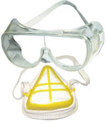 Safety Goggle and Dust Mask Set $2.65